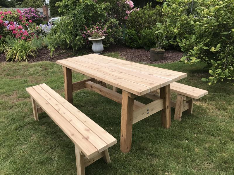 All Tables/benches Come Standard With Double 45 Degree Corners And Round  Over Edge, Please Specify If You Would Like 90 Degree Corners And Edges.  Unfinished ...